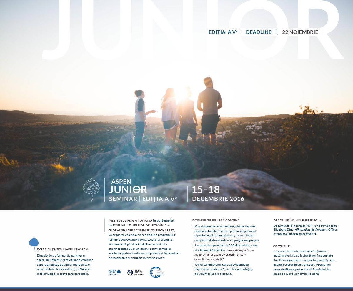 Se apropie a V-a ediție Aspen Junior Seminar