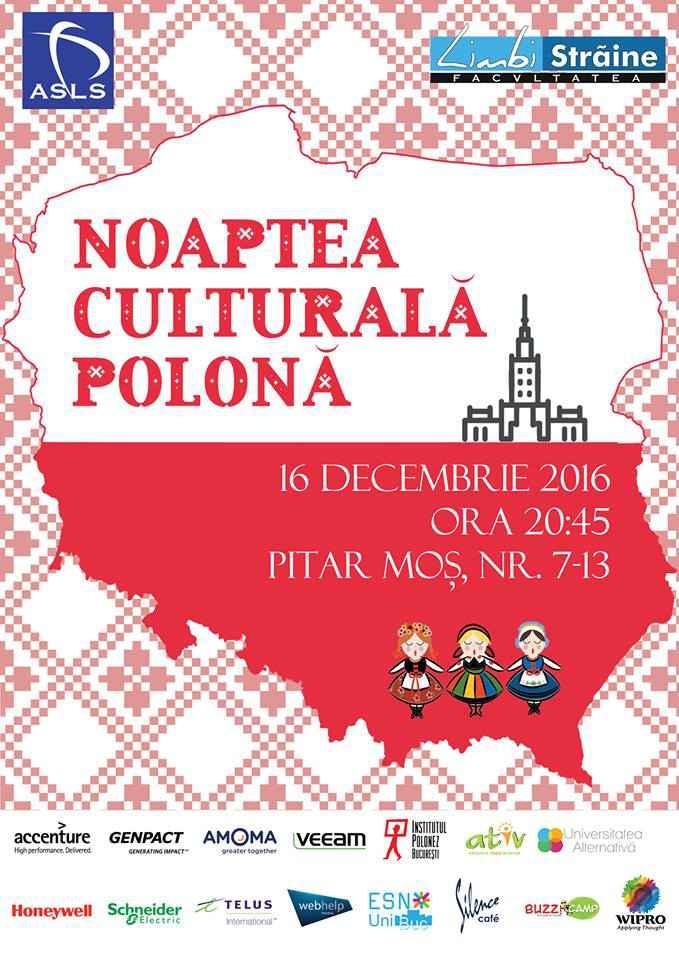 Noaptea Culturală Polonă - un nou proiect pentru Institutul Polonez