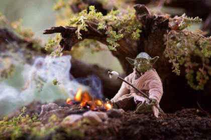 Fotograful care aduce jucăriile la viață - Yoda