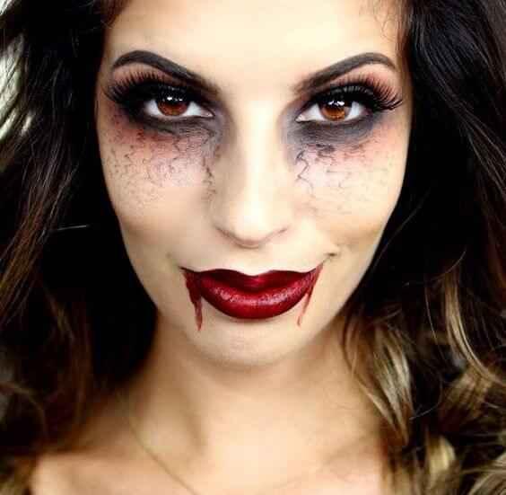 Idei simple de make-up pentru Halloween