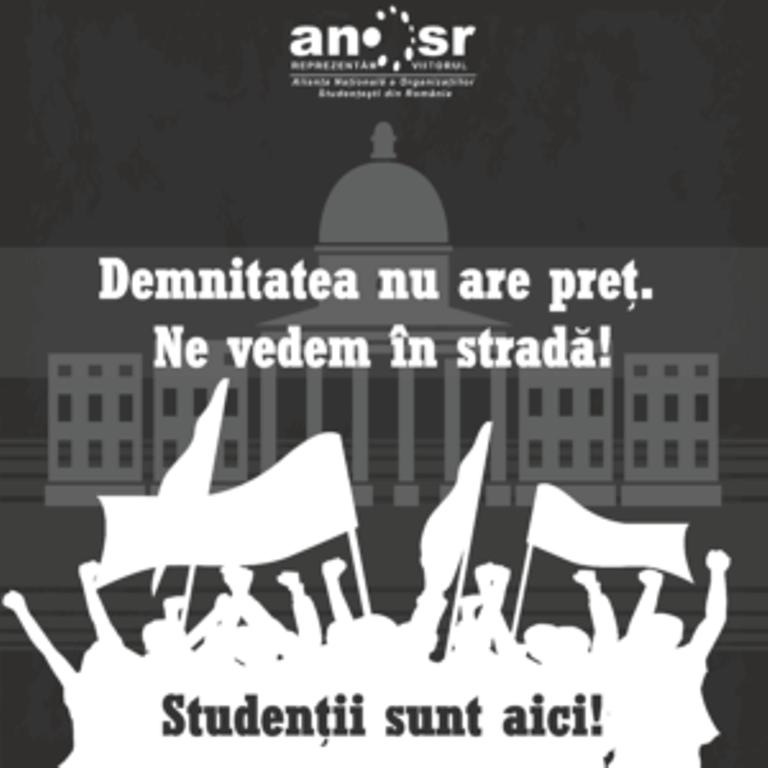Studenții se alătură protestelor