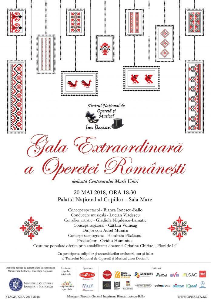 """""""Gala Extraordinară a Operetei Românești"""