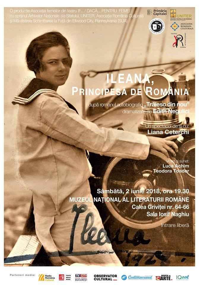 """Spectacolul """"ILEANA, PRINCIPESĂ DE ROMÂNIA"""", dedicat Centenarului Marii Uniri"""