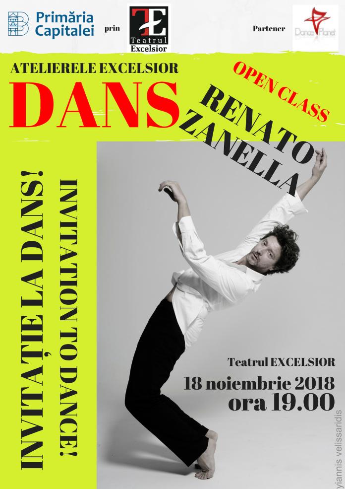 INVITAȚIE LA DANS - Open class cu Renato Zanella, la Teatrul EXCELSIOR