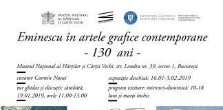 Eminescu in grafica contemporana - 130 ani afiș