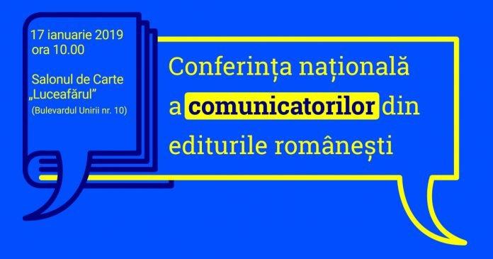 afis conferinta comunicatori edituri