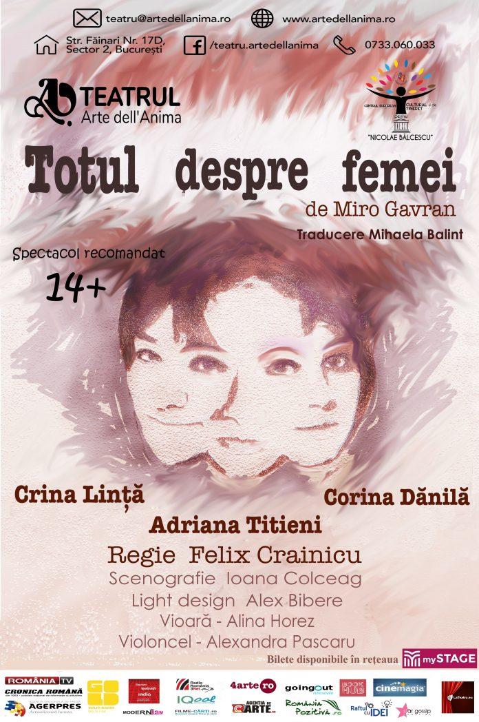 Teatrul Arte dell'Anima_Totul despre femei afiș