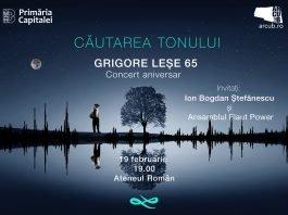 Concert Grigore Lese afiș