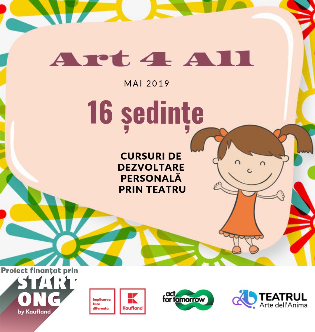 """""""ART 4 ALL"""" afiș"""