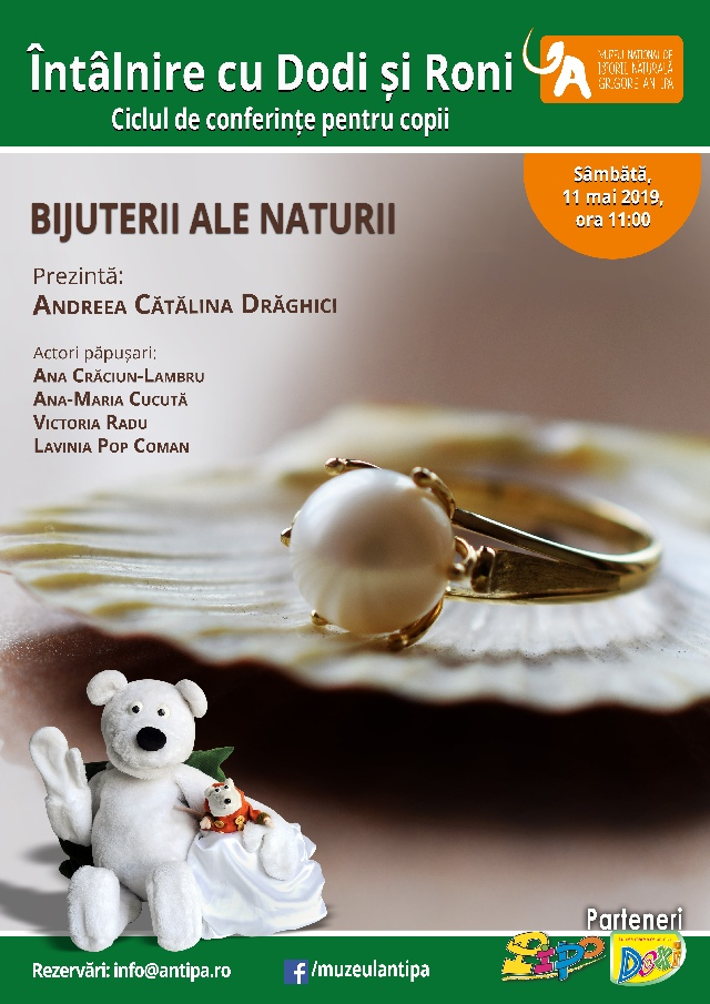"""Bijuterii ale naturii la Muzeul Naţional de Istorie Naturală """"Grigore Antipa"""" afiș"""