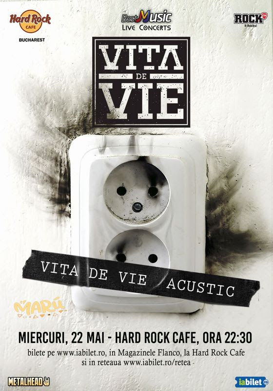 afiș Vița de Vie Hard Rock Cafe