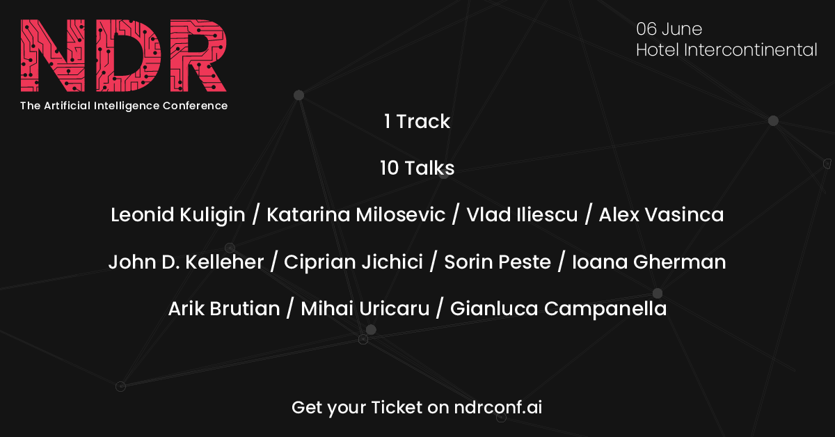 NDR – The Artificial Intelligence Conference afiș