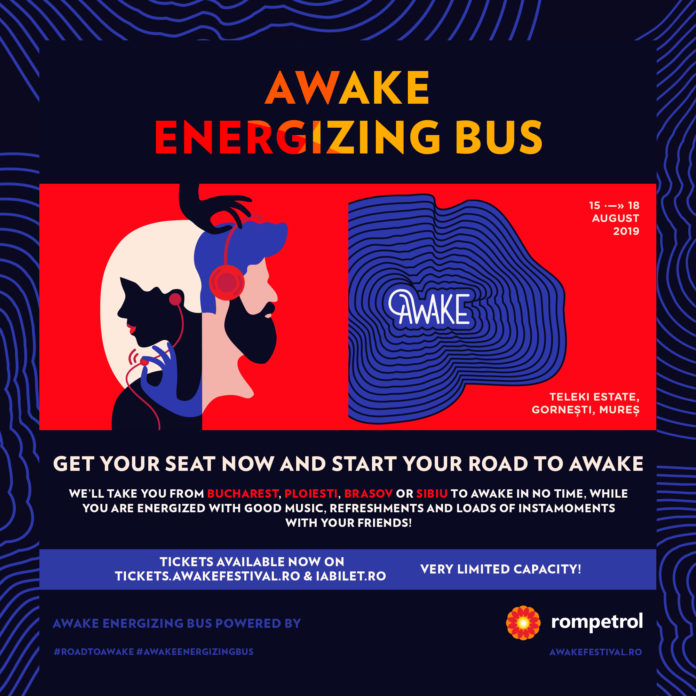 afiș Energizing Party Bus Awake
