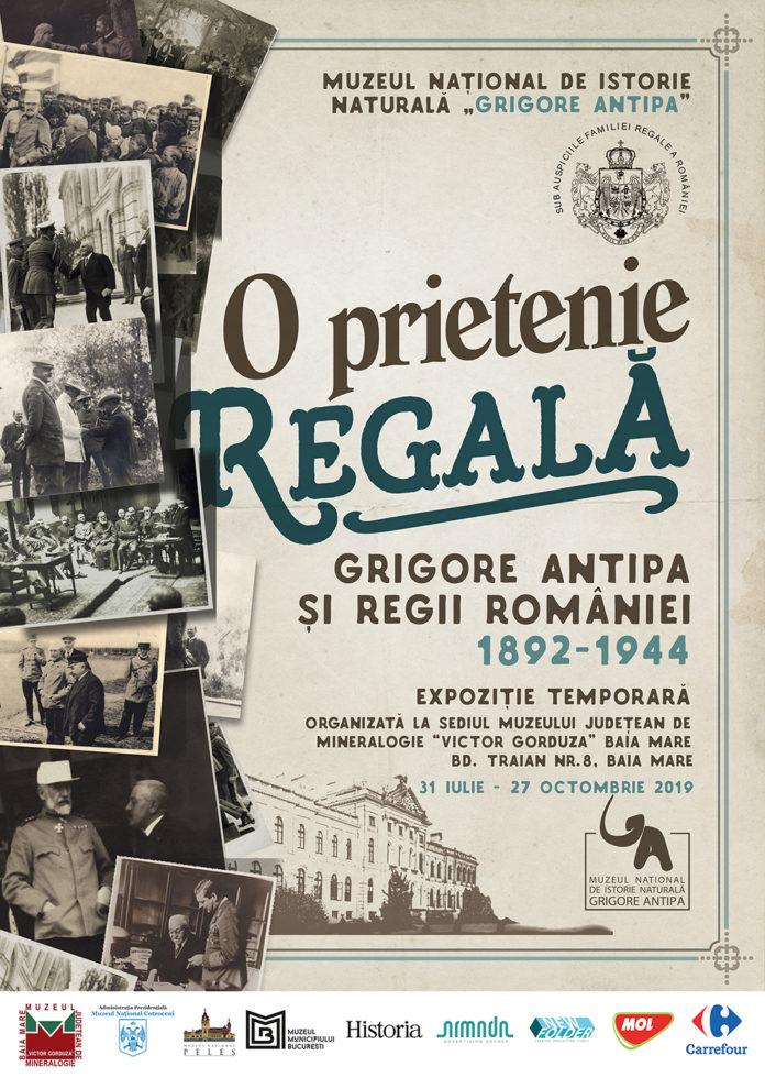 """afiș Expoziția """"O Prietenie Regală: Grigore Antipa și Regii României 1892-1944"""""""