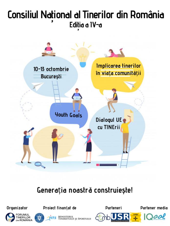 Începe cea de-a IV-a ediție a Consiliului Național al Tinerilor din România
