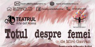 """""""Totul despre femei"""", în cadrul festivalului de teatru independent """"CentralAct"""", Sighişoara"""