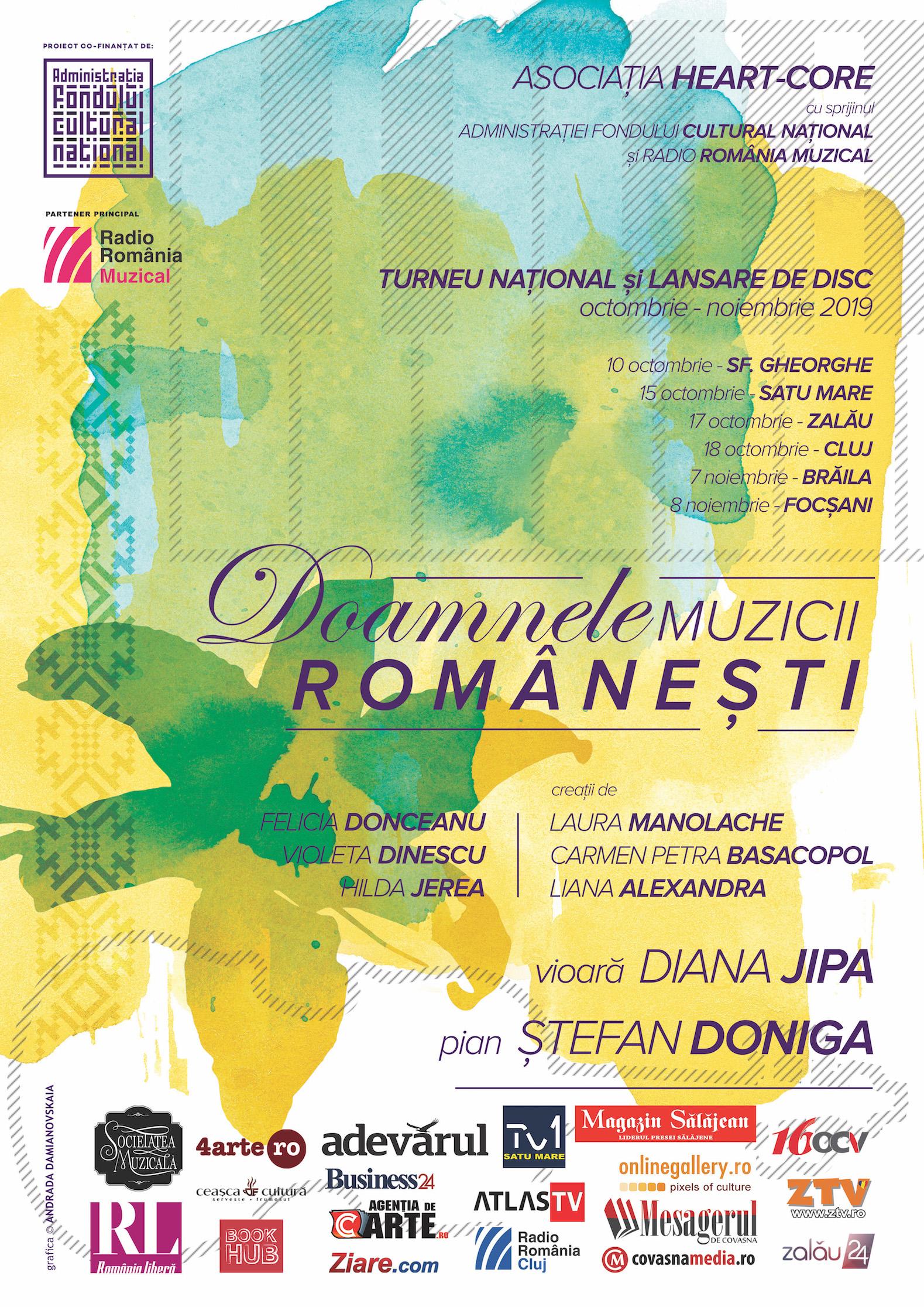 afiș Doamnele muzicii românești