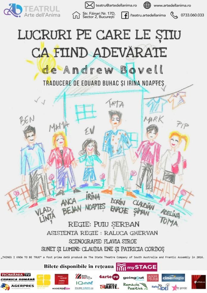 Programul lunii octombrie la Teatrul Arte dell'Anima