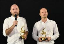 Marius Olteanu și Luchian Ciobanu la premierea filmului Monștri