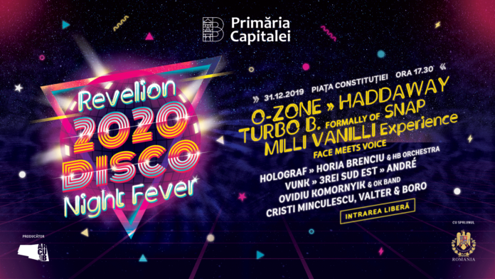 Revelion 2020. Disco Night Fever afis