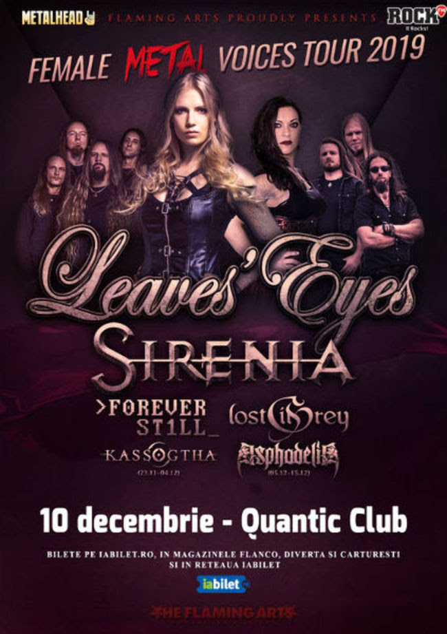 The Female Metal Voices Tour la Bucuresti: Program si Reguli de Acces afiș