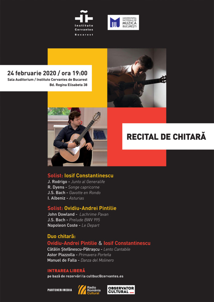 Institutul Cervantes recital chitara