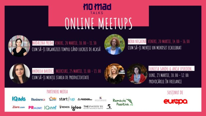 NO.MAD Talks lansează Online Meetups afiș