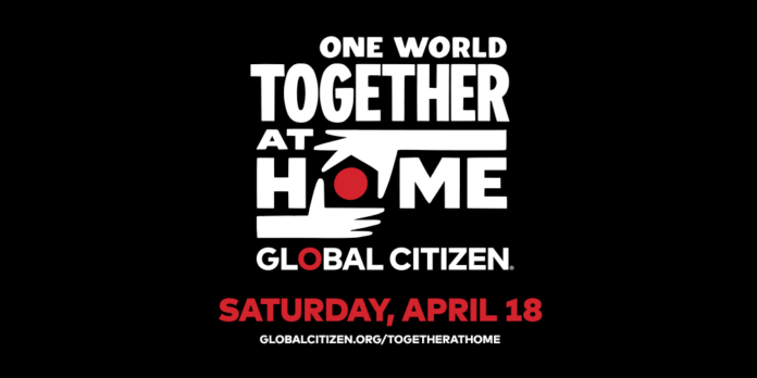 One world together at home-afiș