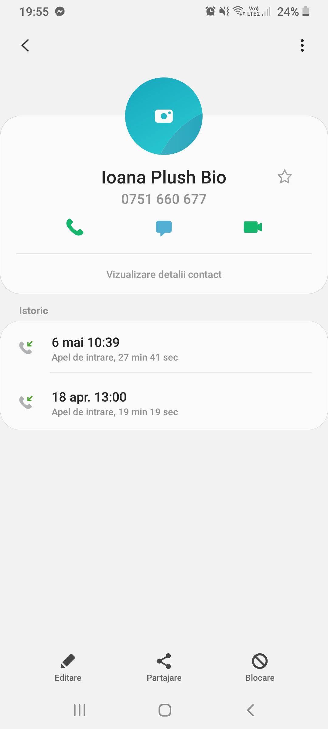 Plush Bio - conversaţie telefonică