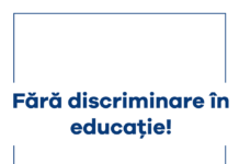 Fără discriminare în educație