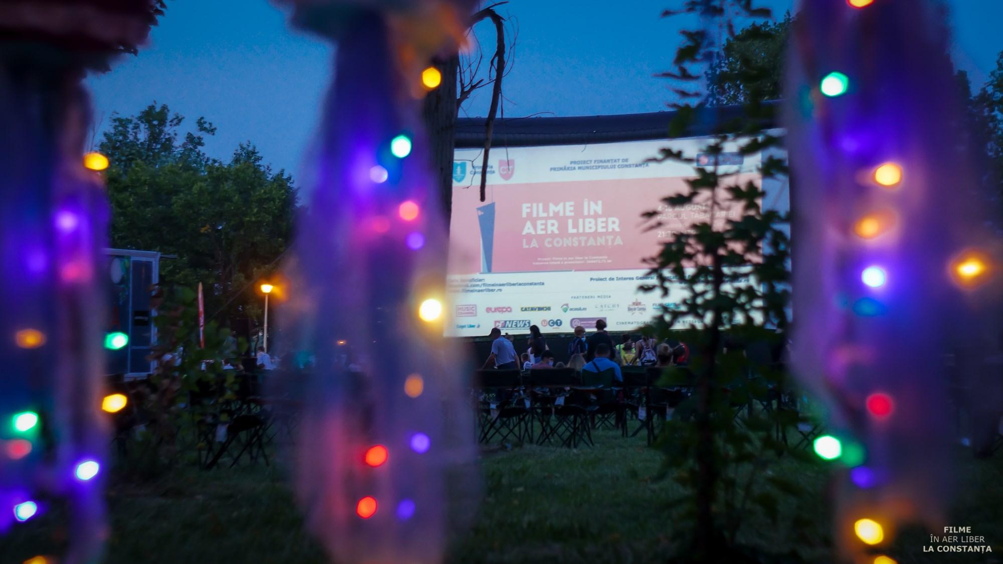 Filme în aer liber la Constanța afiș